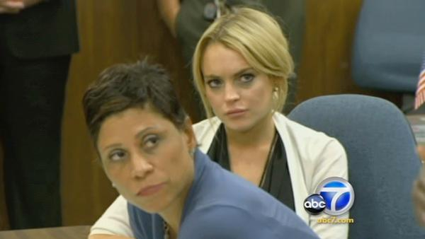 Lindsay Lohan at a hearing at the Beverly Hills Courthouse in Beverly Hills, Calif., Friday, Sept. 24, 2010. - Provided courtesy of KABC