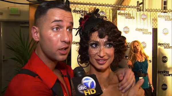 Mike Sorrentino, Karina Smirnoff talk week 4 of Dancing With the Stars following their performance. - Provided courtesy of KABC