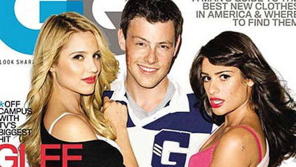 Dianna Agron, Cory Monteith and Lea Michele of 'Glee' grave the November 2010 cover of GQ magazine.