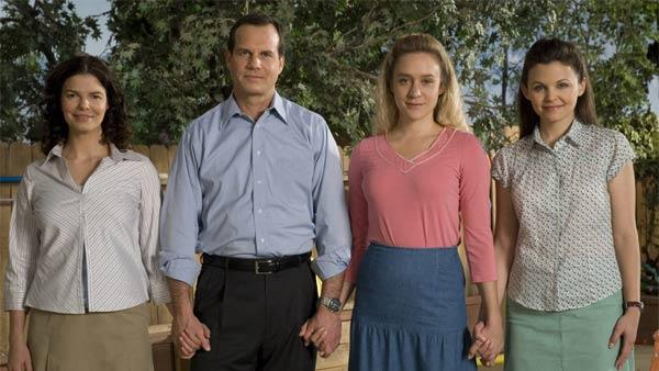 Jeanne Tripplehorn, Bill Paxton, Chloe Sevigny and Ginnifer Goodwin appear in a promotional photo for Big Love. - Provided courtesy of HBO