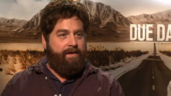 Zach Galifianakis speaks to OnTheRedcarpet.com in November 2010 about his new film Due Date with Robert Downey Jr. - Provided courtesy of KABC