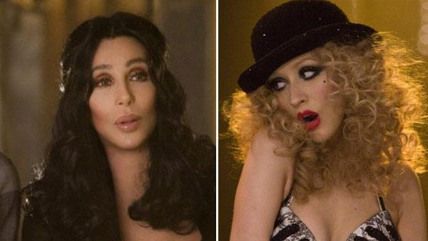 Cher and Christina Aguilera appear in scenes from Burlesque. - Provided courtesy of Sony Pictures