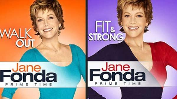 Jane Fonda appears on the cover of her Prime Time fitness DVDs, due in November 2010. - Provided courtesy of Lionsgate Home Entertainment