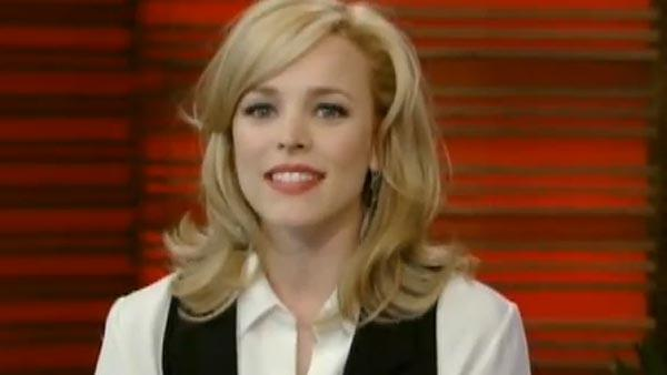 Rachel McAdams appears on Live With Regis and Kelly in November 2010. - Provided courtesy of ABC