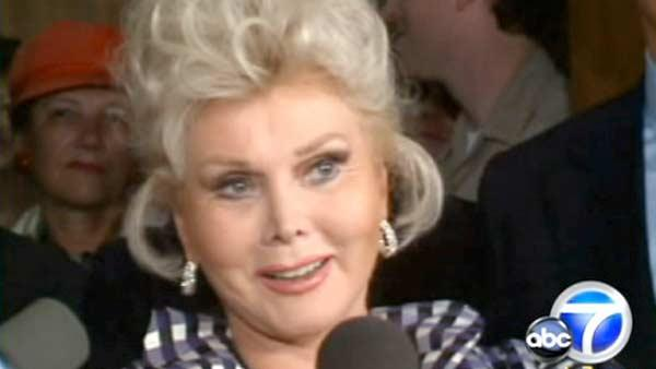 Zsa Zsa Gabor was rushed to the UCLA Medical Center for a massive blood clot, according to her husband. - Provided courtesy of KABC