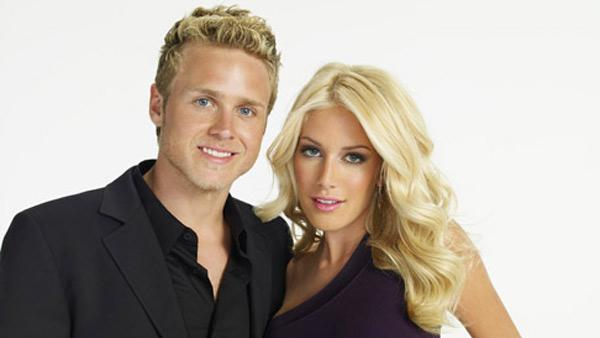 Heidi Montag and Spencer Pratt appear in a promotional photo for 'The Hills'.