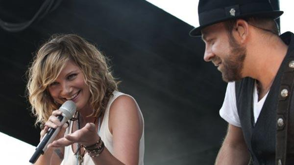 Jennifer Nettles and Kristian Bush appear in an undated 2009 photo posted on Sugarlands Facebook page. - Provided courtesy of facebook.com/sugarland