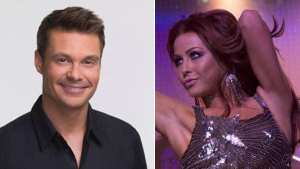 Ryan Seacrest appears in a promotional photo for American Idol. / Julianne Hough in a scene from Burlesque. - Provided courtesy of FOX / De Line Pictures / Sony Pictures