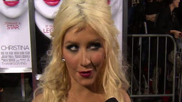 Christina Aguilera speaks to OnTheRedCarpet.com at the Los Angeles premiere of Burlesque on Nov. 15, 2010. - Provided courtesy of KABC
