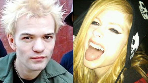 Deryck Whibley appears in an undated photo posted on his band Sum 41's Facebook page. / Avril Lavigne appears in undated photo on her Twitter page.