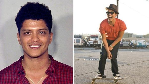 Bruno Mars appears in a mugshot following his Sept. 19, 2010 arrest in Las Vegas on a cocaine possession charge. / Bruno Mars shoots the video for Grenade. - Provided courtesy of Las Vegas Metro Police Department / brunomars.com