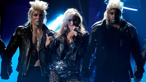 Ke$ha performing at the American Music Awards - Provided courtesy of AP / AP Photo/ Matt Sayles