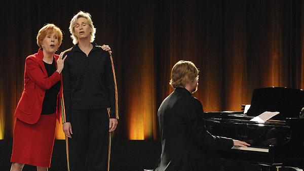Carol Burnett and Jane Lynch appear on Glee on the episode Furt, which airs on Nov. 23, 2010. - Provided courtesy of Mike Yarish/FOX