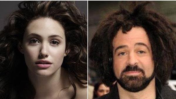Pictured: Emmy Rossum appears in an undated photo on her website / Adam Duritz appears on an undated photo on his Facebook page. - Provided courtesy of emmyrossum.com / http://www.facebook.com/aduritz