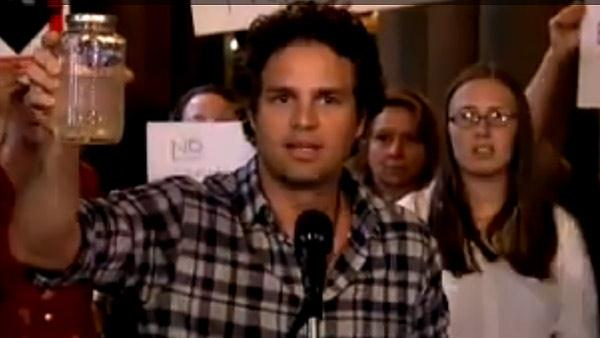 Mark Ruffalo speaks out against hydraulic fracturing at the New York State Senate in Albany, New York on July 20, 2010. - Provided courtesy of NY State Senate