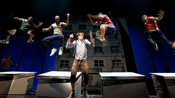 Reeve Carney and the Ensemble rehearsing for the new Spider-Man musical in 2010. - Provided courtesy of Jacob Cohl / facebook.com/TurnOffTheDark