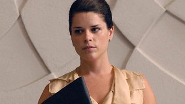 Neve Campbell appears in a scene from the series 'The Philanthropist'.