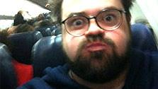 Kevin Smith Tweeted this photo of himself in February 2010 after being kicked off a Southwest Airlines flight for being unable to fit into seat, a claim he has disputed. - Provided courtesy of twitter.com/thatkevinsmith