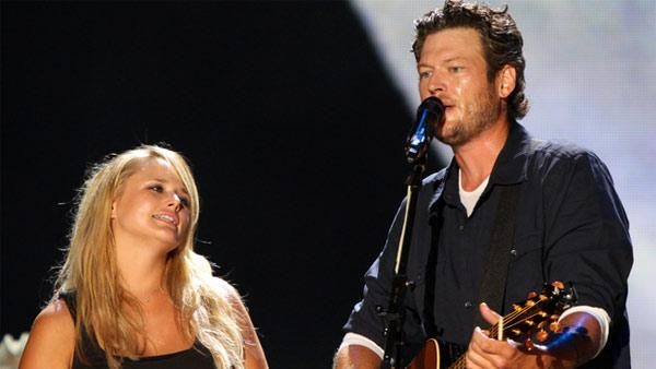 Miranda Lambert and Blake Shelton perform on stage at CMA Fest 2010 on June 13, 2010.