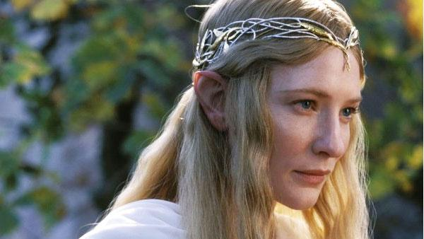 Cate Blanchett in a production still from Lord of the Rings: The Fellowship of the Ring. - Provided courtesy of New Line Productions