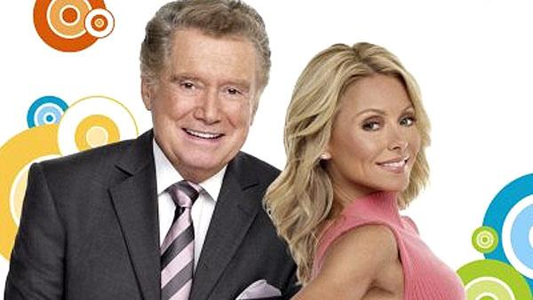 Kelly Ripa and Regis Philbin appear in a promotional 2010 photo for their morning talk show Live With Regis and Kelly. - Provided courtesy of ABC