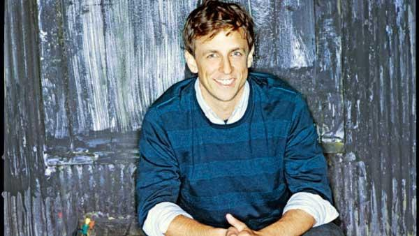 Seth Meyers in a 2007 promotional photo of him on the Saturday Night Live set. - Provided courtesy of NBC Universal / Mary Ellen Matthews