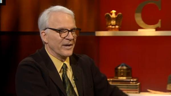 Steve Martin appears on The Colbert Report on Dec. 8, 2010. - Provided courtesy of Comedy Central