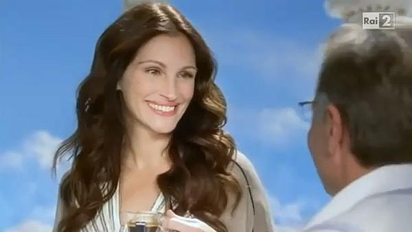 Julia Roberts appears in an ad for Italian coffee company Lavazza in December 2010. - Provided courtesy of Lavazza