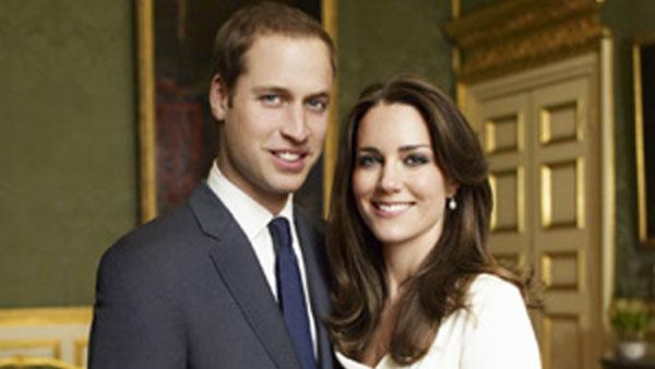 One of the two official engagement portraits of Prince William and Kate Middleton - Provided courtesy of Mario Testino