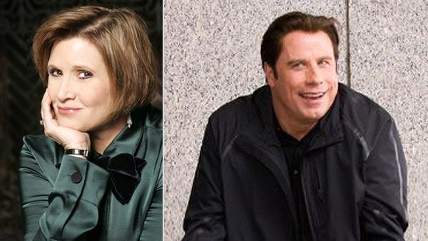 Carrie Fisher appears in an undated 2010 photo from her website. John Travolta appears in a scene from the movie Old Dogs. - Provided courtesy of carriefisher.com / Walt Disney Pictures