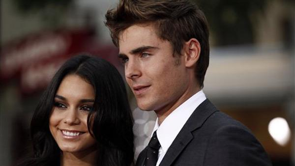 Cast member Zac Efron, right, and Vanessa Hudgens  arrive at the premiere of Charlie St. Cloud in Los Angeles, Tuesday, July 20, 2010. - Provided courtesy of AP / Matt Sayles