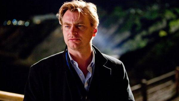 Christopher Nolan in a production still for 'The Dark Knight'.
