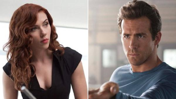 Scarlett Johansson (left) pictured in a scene from the 2010 film, Iron Man 2. Ryan Reynolds (right) in a scene from the 2011 film, Green Lantern. - Provided courtesy of OTRC
