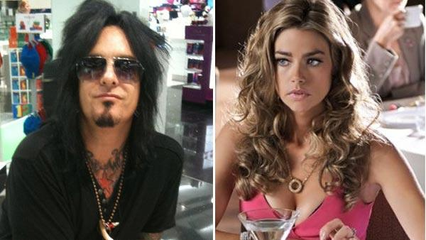Denise Richards appears in a scene from the Spike TV show Blue Mountain High in 2010. / Nikki Sixx appears in a photo posted on his Facebook page on August 10, 2010. - Provided courtesy of Spike TV / facebook.com/pages/Nikki-Sixx