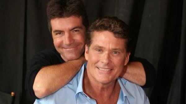 David Hasselhoff appears with Simon Cowell in a 2007 promotional photo for Americas Got Talent. - Provided courtesy of ITV