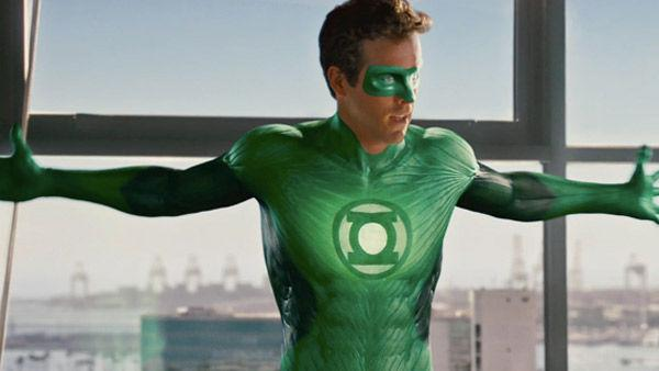 Ryan Reynolds as 'Hal Jordan' in a scene from the 2011  film, 'Green Lantern'.