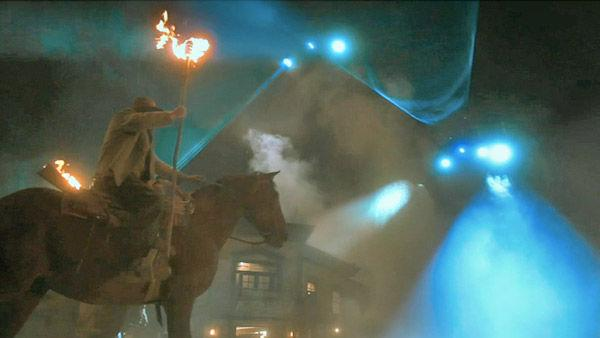 A scene from the 2011  film, 'Cowboys & Aliens'.