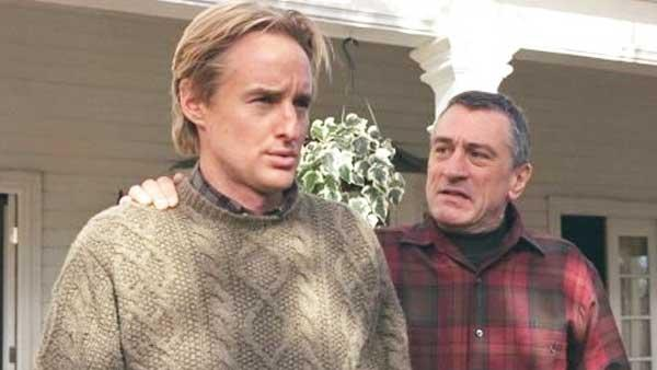 Owen Wilson in a production still from Meet The Parents with Robert DeNiro. - Provided courtesy of Universal Studios