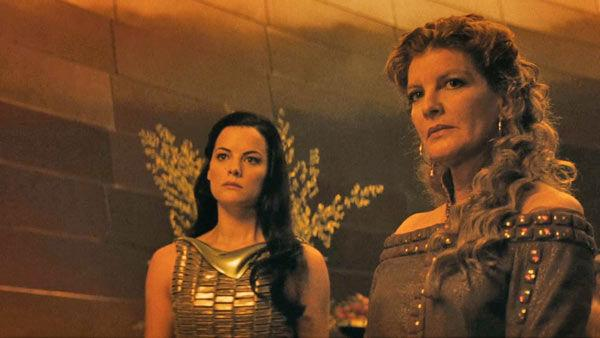 Jaimie Alexander as 'Lady Sif' and Rene Russo as 'Frigga' in a scene from the 2011  film, 'Thor'.