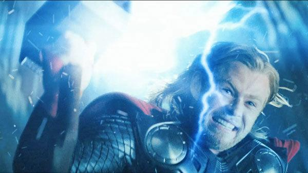 Chris Hemsworth as 'Thor' in a scene from the 2011  film, 'Thor'.
