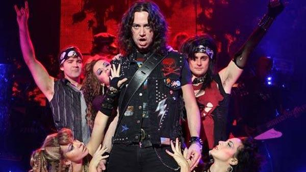 Constantine Maroulis performs in 'Rock of Ages' in this undated 2010 photo posted on the Broadway musical's MySpace p