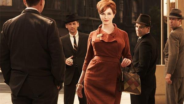 Christina Hendricks appears in a 2010 promotional photo for the AMC series Mad Men. - Provided courtesy of AMC