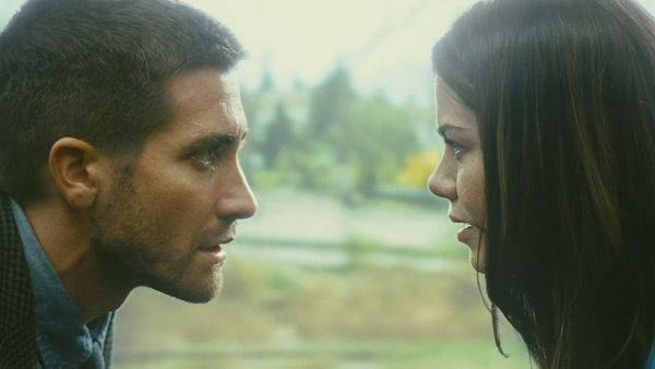 Jake Gyllenhaal as 'Colter Stevens' and Michelle Monaghan as 'Christina'  in a scene from the 2011  film, 'Source Code.'