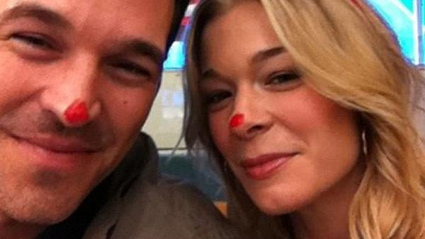 Pictured: LeAnn Rimes and Eddie Cibrian appear in a photo posted on her Twitter page in December 2010.