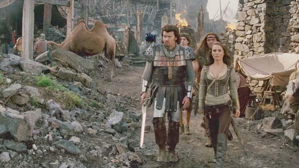 Danny McBride as 'Thadeous' and Natalie Portman as 'Isabel' in a scene from the 2011  film, 'Your High