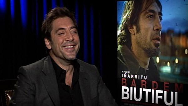 Javier Bardem speaks to OnTheRedCarpet.com in December 2010 about his movie, Biutiful.
