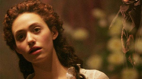 Emmy Rossum appears in a scene from the movie 'The Phantom of the Opera' in 2004.