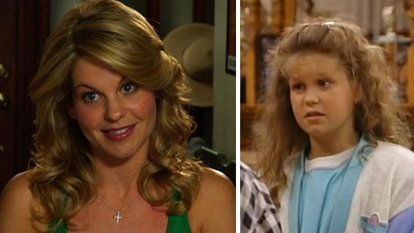Candace Cameron Bure appears in a scene from Full House in 1990. / Candace Cameron Bure appears in a scene from the ABC Family drama series Make it or Break it in 2009. - Provided courtesy of Jeff Franklin Productions / Warner Bros. / ABC Family