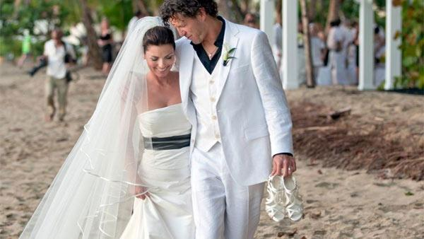 (Pictured: Shania Twain and Frederic Thiebaud at their wedding on Jan. 1, 2011.) - Provided courtesy of Robert Evans / RobertEvans.com / shaniatwain.com