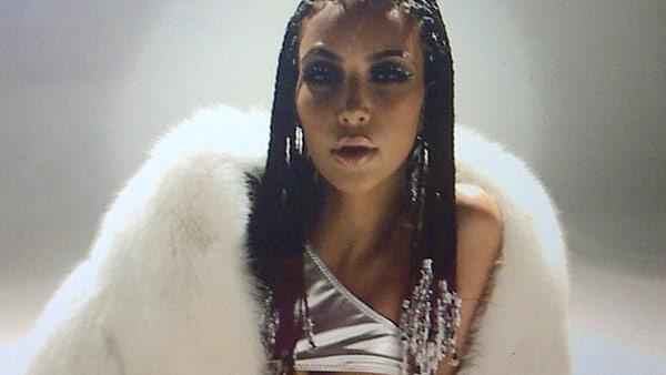 Kim Kardashian appears in a cornrowed hairstyle in a photo posted on her Twitter page on Dec. 31, 2010. - Provided courtesy of twitpic.com/3lqubt